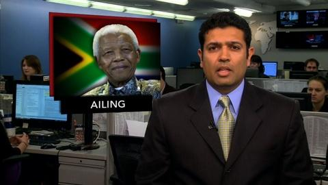 PBS NewsHour -- News Wrap: Nelson Mandela Hospitalized With Lung Infection