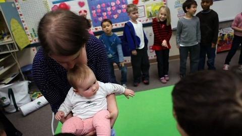 PBS NewsHour -- In School, Babies Teach Older Children Empathy