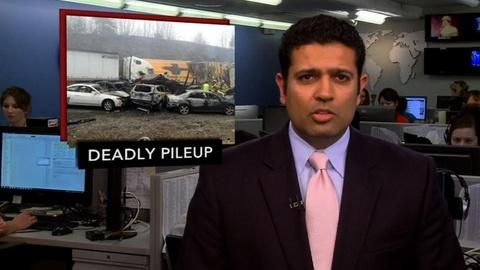 PBS NewsHour -- News Wrap: Dense Fog Precipitates Deadly Car Pileup