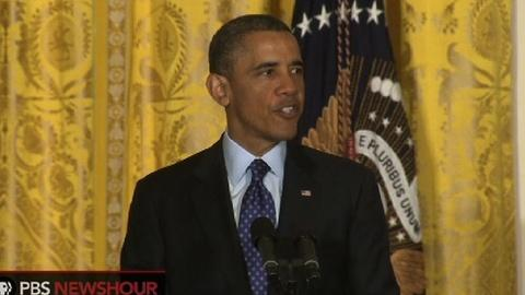 PBS NewsHour -- President Obama Announces BRAIN Initiative