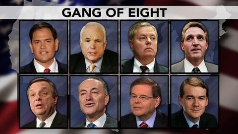 PBS NewsHour -- Senators Fine Tune Final Details of Immigration Reform Bill