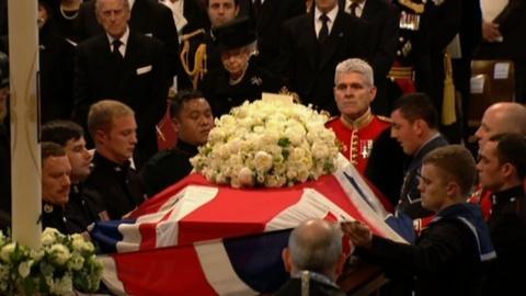 PBS NewsHour -- Thousands Bid Farewell to Britain's 'Iron Lady'