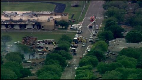 PBS NewsHour -- Plant Explosion Devastates Texas Town, Residents Evacuate