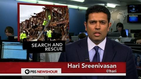 PBS NewsHour -- News Wrap: Search Continues for Survivors of Texas Explosion