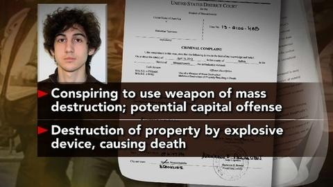 PBS NewsHour -- Bombing Suspect Arraigned on Charges While Hospitalized