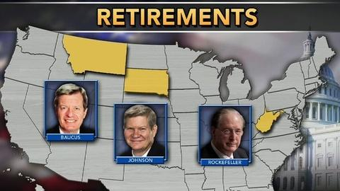 PBS NewsHour -- Senate Retirements Could Be Crucial in Political Battle