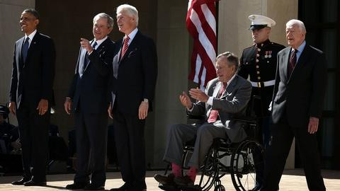 PBS NewsHour -- Living Presidents Gather to Dedicate George W. Bush Library