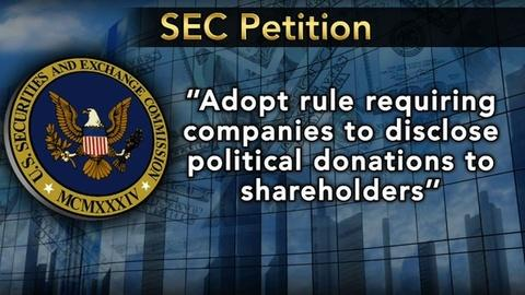PBS NewsHour -- SEC Considering New Rule for Political Contributions
