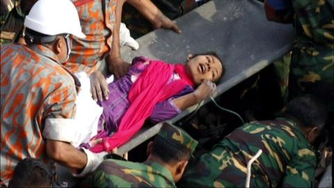 PBS NewsHour -- Bangladeshi Seamstress Rescued From Factory Rubble