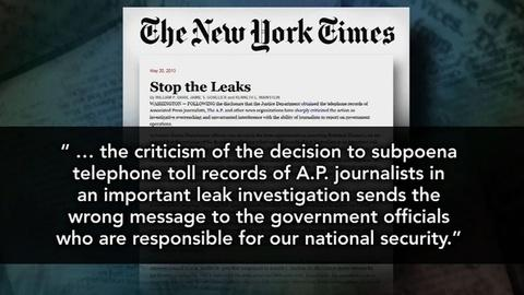 PBS NewsHour -- How Far Should Government Go in Investigation of Leaks?