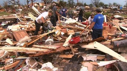 PBS NewsHour -- Close-Knit Okla. Community Meets Tornado Aftermath