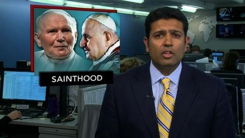 PBS NewsHour -- News Wrap: Two Former Popes Will Be Made Saints