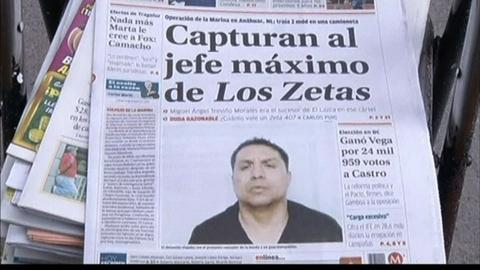 PBS NewsHour -- Leader of Zetas Drug Cartel Captured Near Texas Border