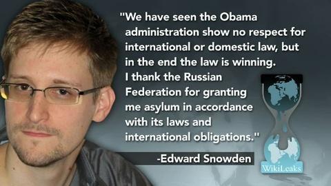 PBS NewsHour -- Russia Grants Snowden Asylum