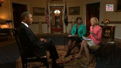 PBS NewsHour -- Exclusive PBS NewsHour Interview with President Obama