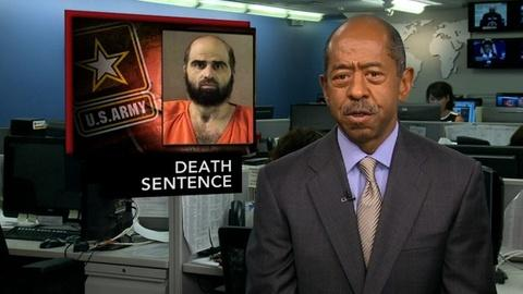 PBS NewsHour -- News Wrap: Military Court Sentences Nidal Hasan to Death