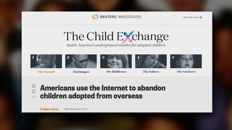 PBS NewsHour -- Parents Turn to Internet to Give Away Foreign Adoptees