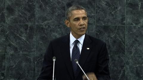 PBS NewsHour -- At UN, Obama Offers Tough Words on Syria