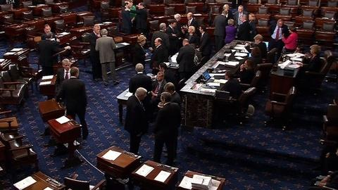 PBS NewsHour -- Senate Votes Unanimously to Take Up Debate on Budget Bill