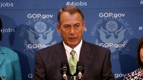 PBS NewsHour -- Boehner Warns House GOP May Block Spending Bill