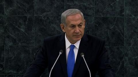 PBS NewsHour -- Netanyahu warns world must maintain Iran sanctions
