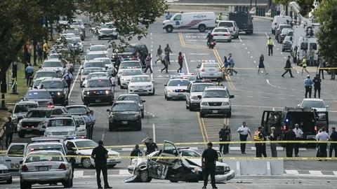 PBS NewsHour -- Suspect killed at the end of a car chase to Capitol Hill