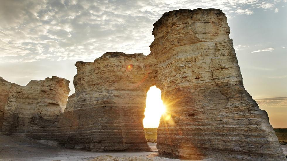 Towers of Chalk in Kansas image