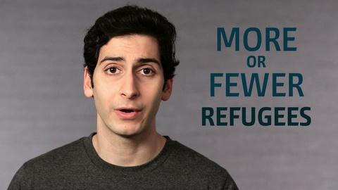 Point Taken -- One Word or Less: More or Fewer Refugees?