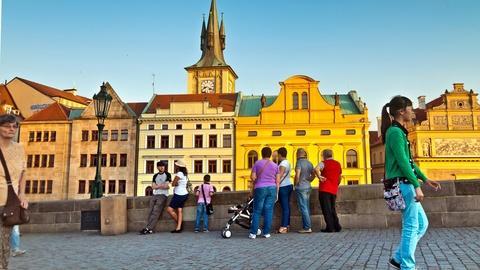 Prague, Czech Republic: Charles Bridge and a Czech Language