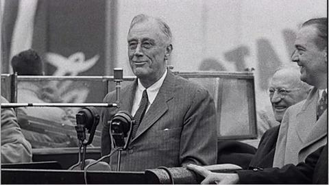 The Roosevelts -- Franklin Delano Roosevelt: Visit To Ebbets Field