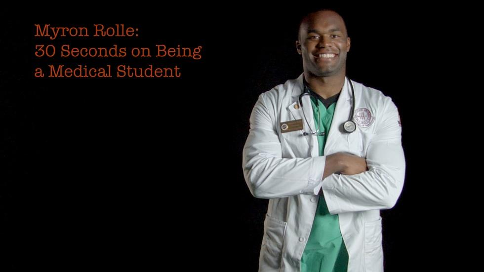 Myron Rolle: 30 Seconds On Being A Medical Student image