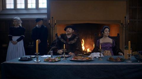 Secrets of the Six Wives -- Anne Boleyn and Henry VIII Argue at Dinner