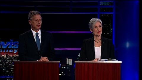 Tavis Smiley -- Pres. Candidates Dr. Jill Stein & Gov. Gary Johnson Part 1
