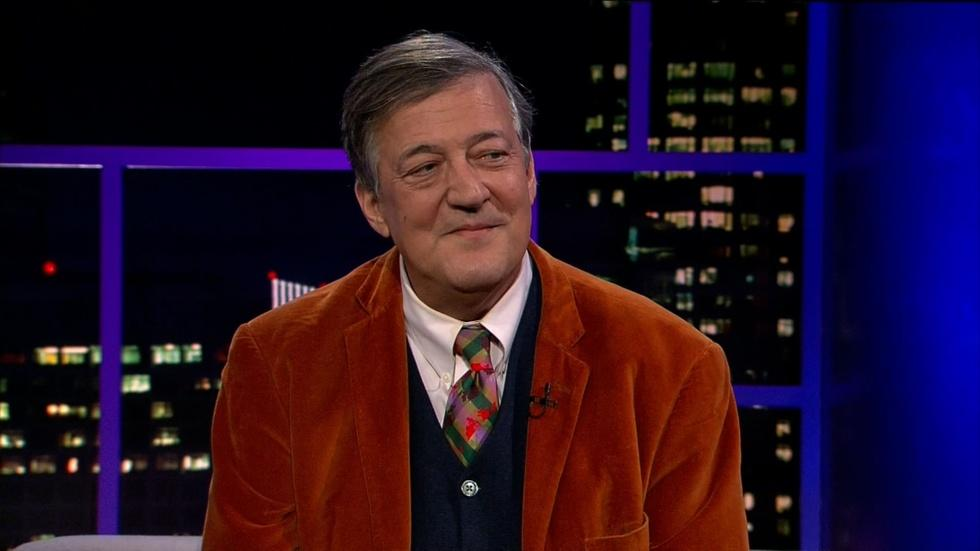 Actor and Comedian Stephen Fry image