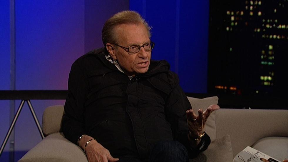 Former talk show host Larry King image