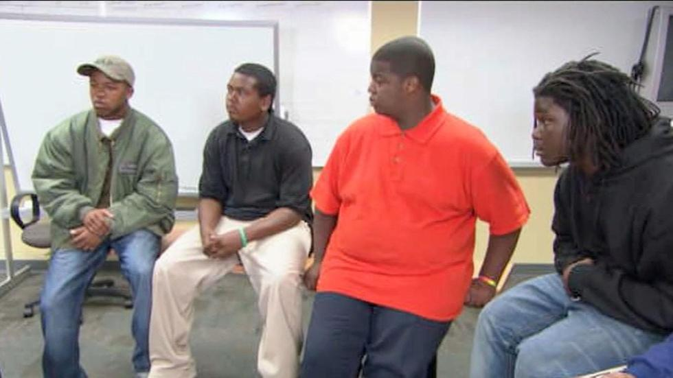 Tavis with Small Group of Youth Offenders image