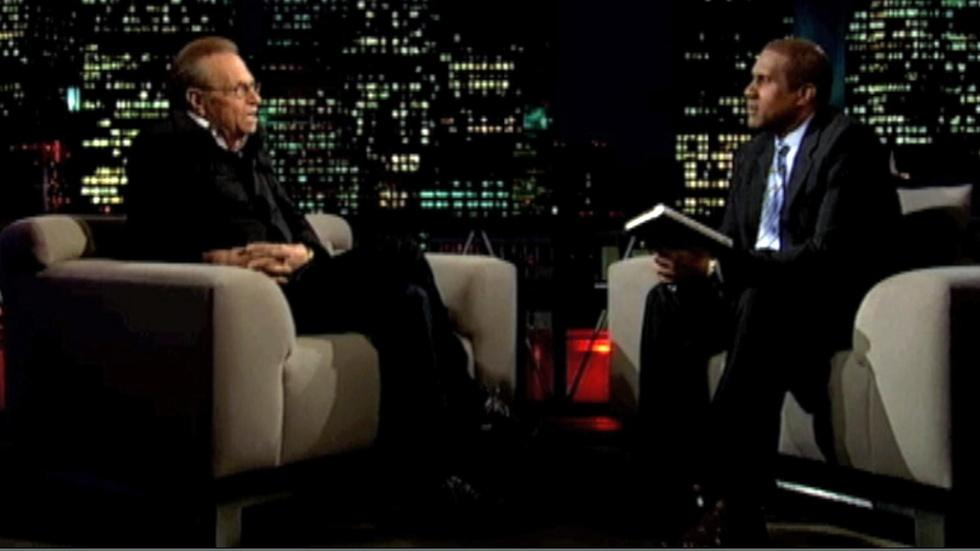 Former talk show host Larry King image