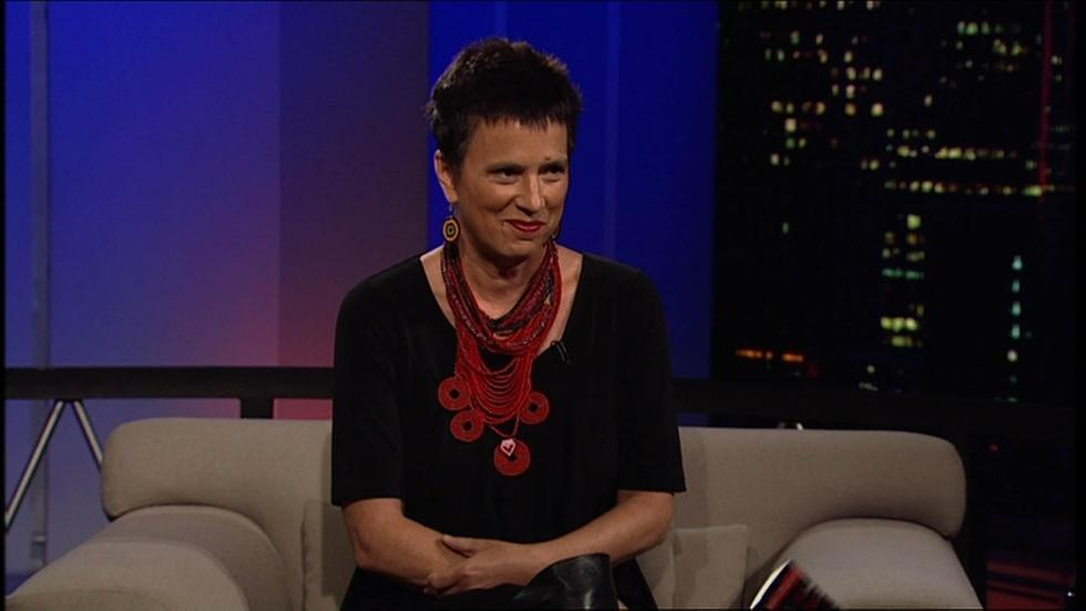 Award-winning playwright and activist Eve Ensler image