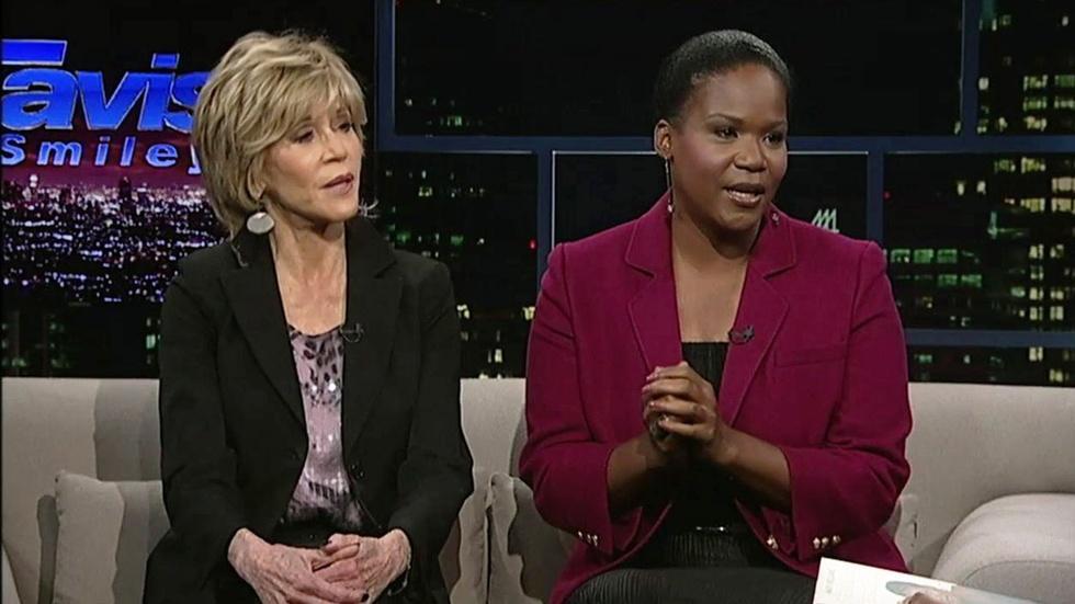Writer Mary Williams & Actress Jane Fonda image