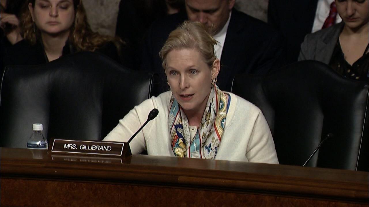 Sen. Gillibrand Questions Sec. of Defense Nominee Carter