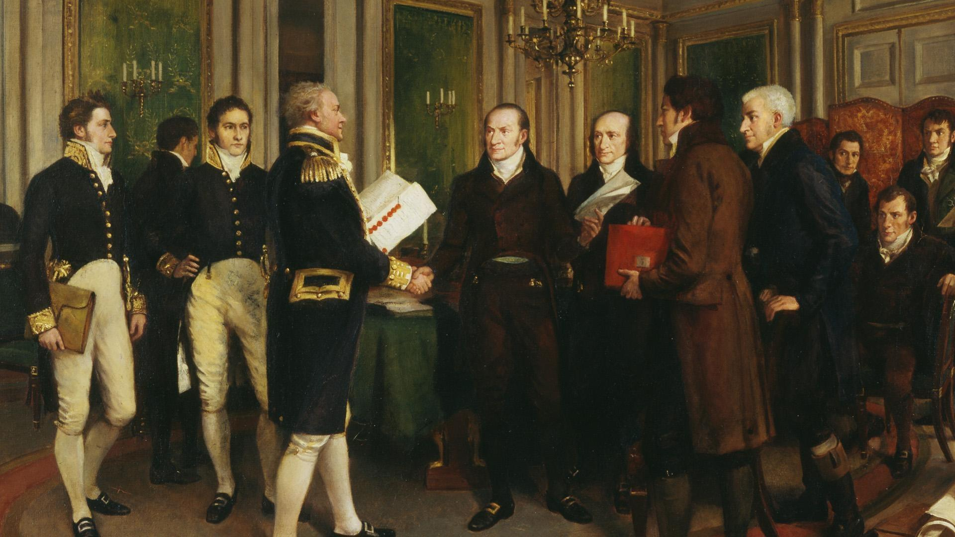 The Treaty Of Ghent The War Of 1812 Pbs