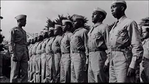 The War -- African-Americans Troops Training