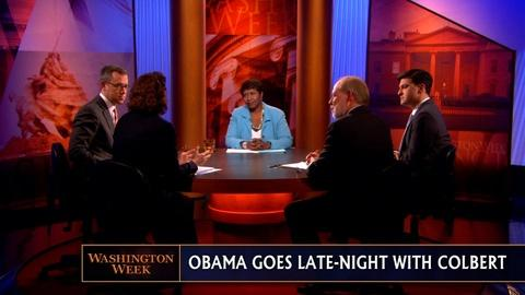 Washington Week -- Hidden Nuggets in the Spending Bill, Obama on The Colbert