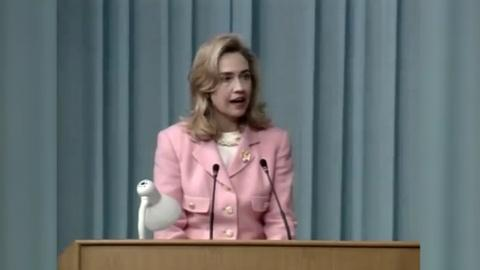 "Washington Week -- Hillary Clinton Declares ""Women's Rights are Human Rights"""