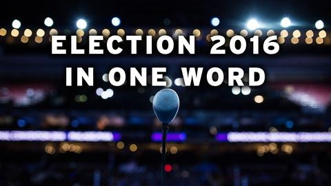 Washington Week -- How would you describe the election in one word?