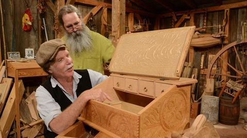 Carved Oak Desk Box: Promo