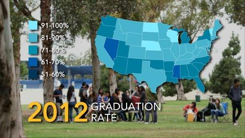 World Channel -- America By The Numbers | Graduation Rates: State by State