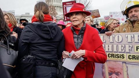 Jane Fonda on taking action to address 'dire' climate crisis