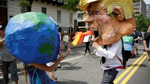 PBS NewsHour -- Climate marchers urge Trump to protect environment