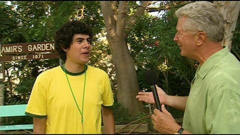 Visiting with Huell Howser -- Amir's Garden